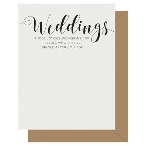 Weddings Crass Calligraphy Letterpress Card