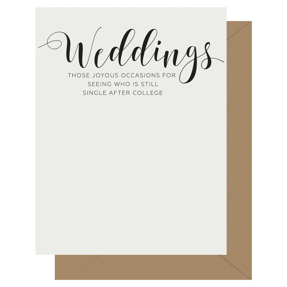 Weddings Crass Calligraphy Letterpress Card