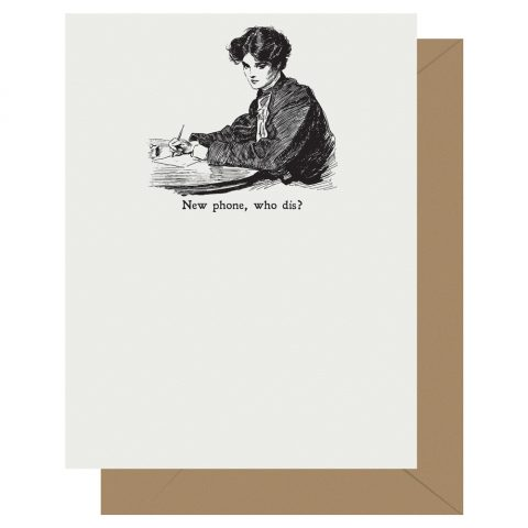 Who Dis? Gibson Girl Letterpress Card