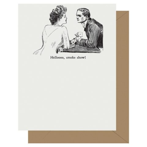 Hellooo, smokeshow! Gibson Girl Letterpress Card