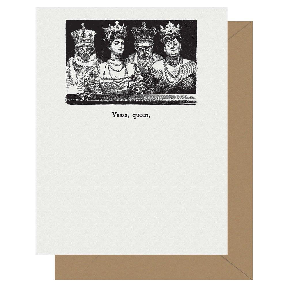 Yasss, queen Gibson Girl Letterpress Card