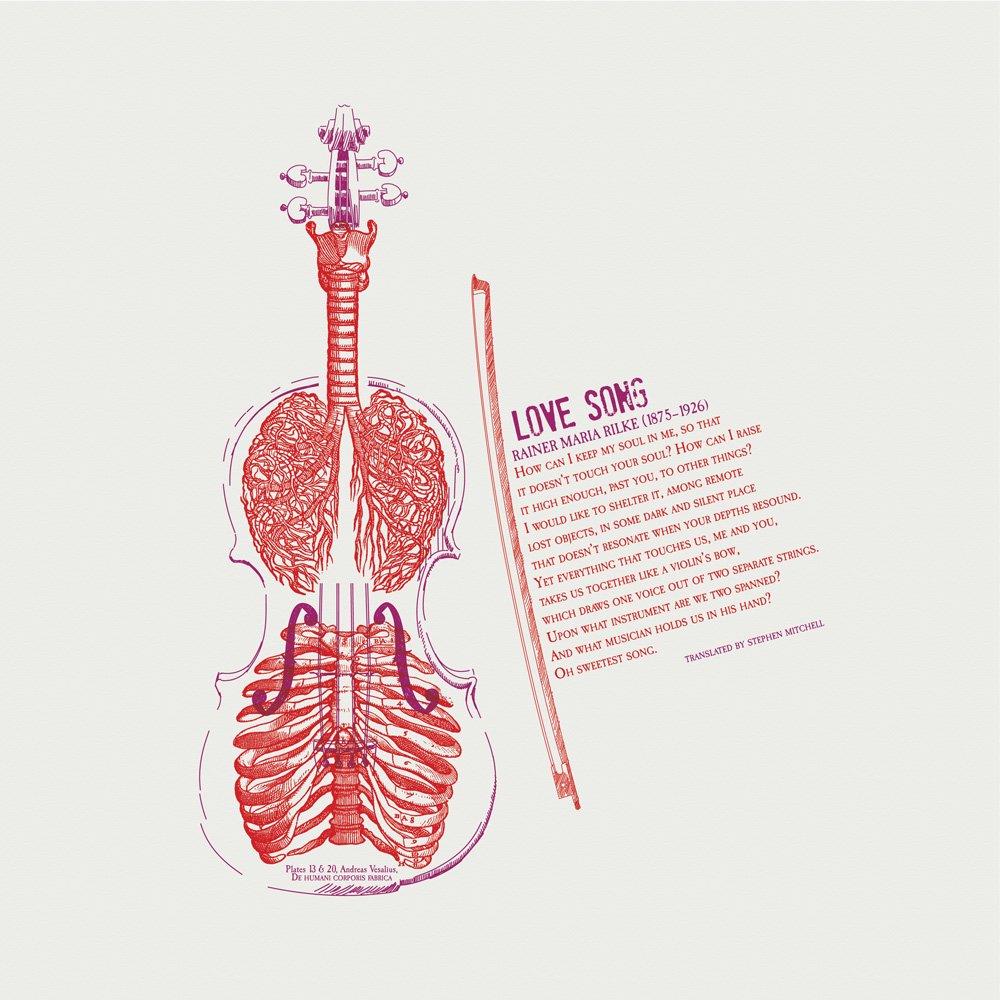 Love Song Rainer Maria Rilke Letterpress Art Print