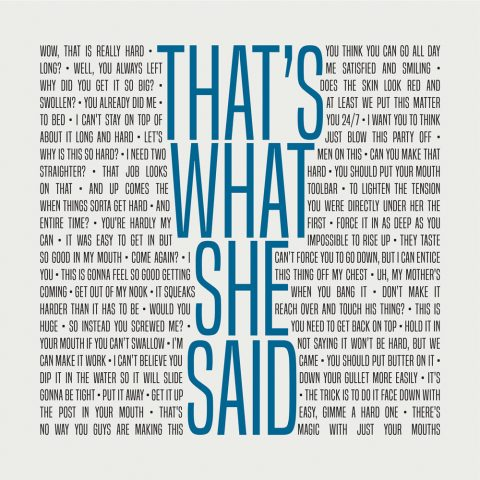 That's What She Said The Office Michael Scott Letterpress Print