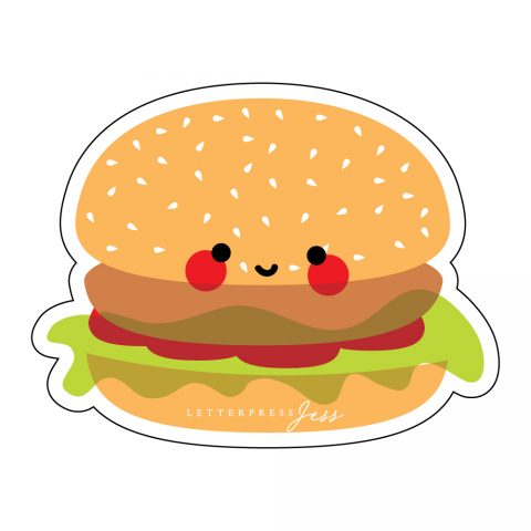 Burger-Cutie-Kawaii-Sticker-Letterpress-Jess
