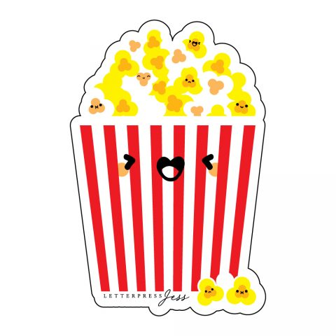 Popcorn-Cutie-Kawaii-Sticker-Letterpress-Jess