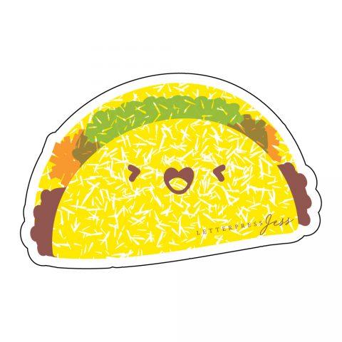 Taco-Cutie-Kawaii-Sticker-Letterpress-Jess