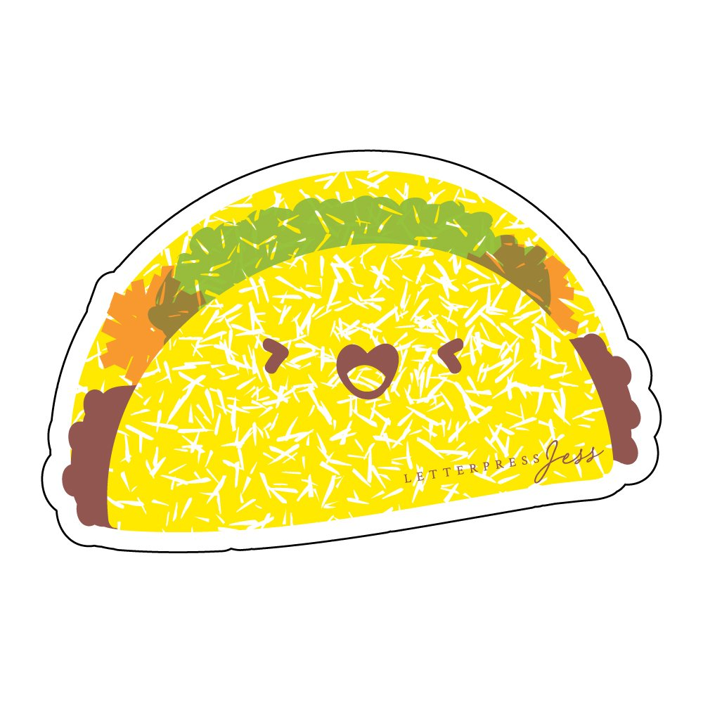 Taco-Cutie-Kawaii-Sticker-Letterpress-Jess