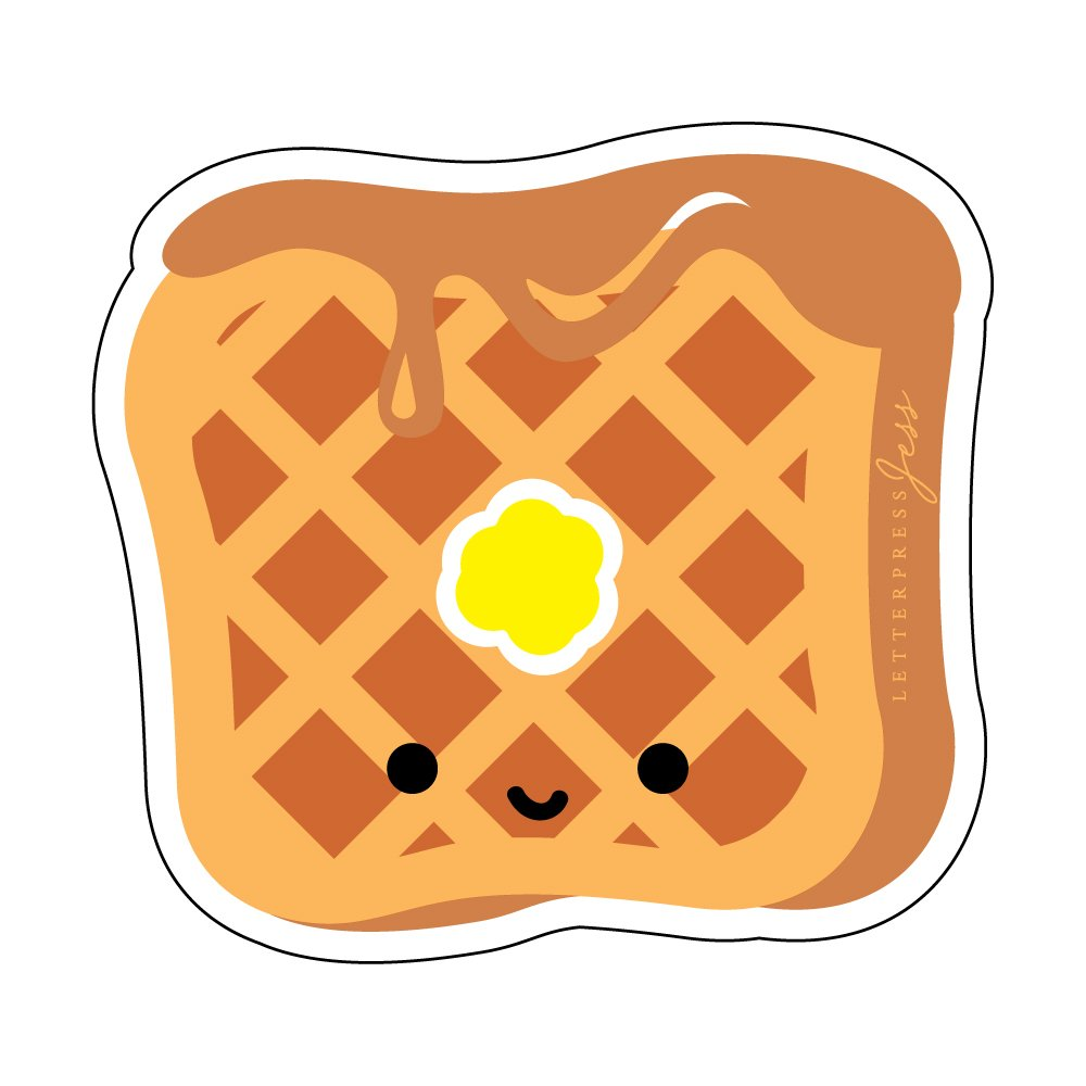 Waffle-Cutie-Kawaii-Sticker-Letterpress-Jess
