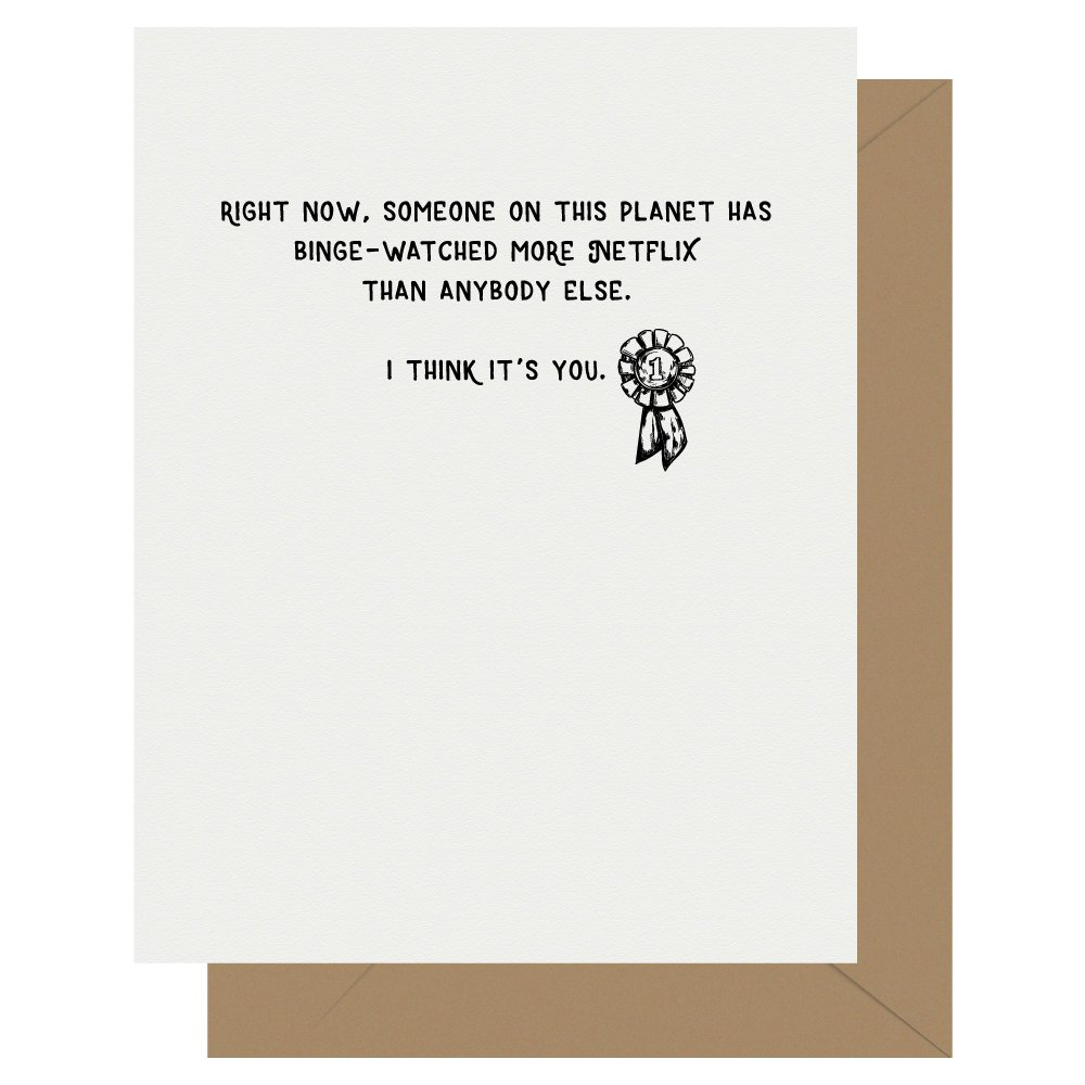 Netflix Award Letterpress Greeting Card