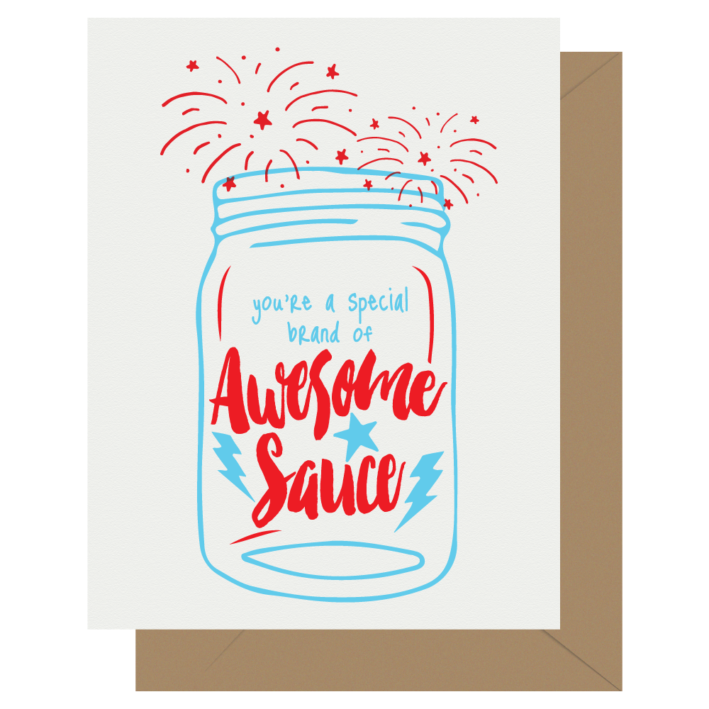 Special Brand of Awesomesauce Letterpress Card