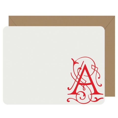 Fairy Tale Initial Notecards by Letterpress Jess