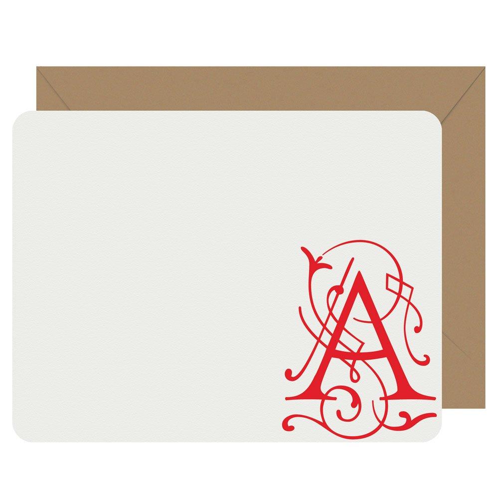 Fairy Tale Initial Notecards by Letterpress Jess