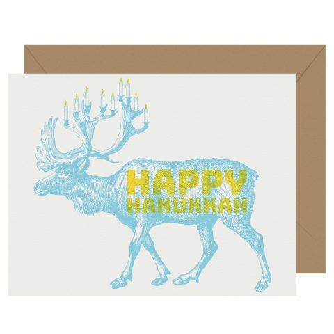 Happy Hanukkah letterpress holiday card from Letterpress Jess