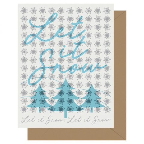 Let it snow letterpress holiday card from Letterpress Jess