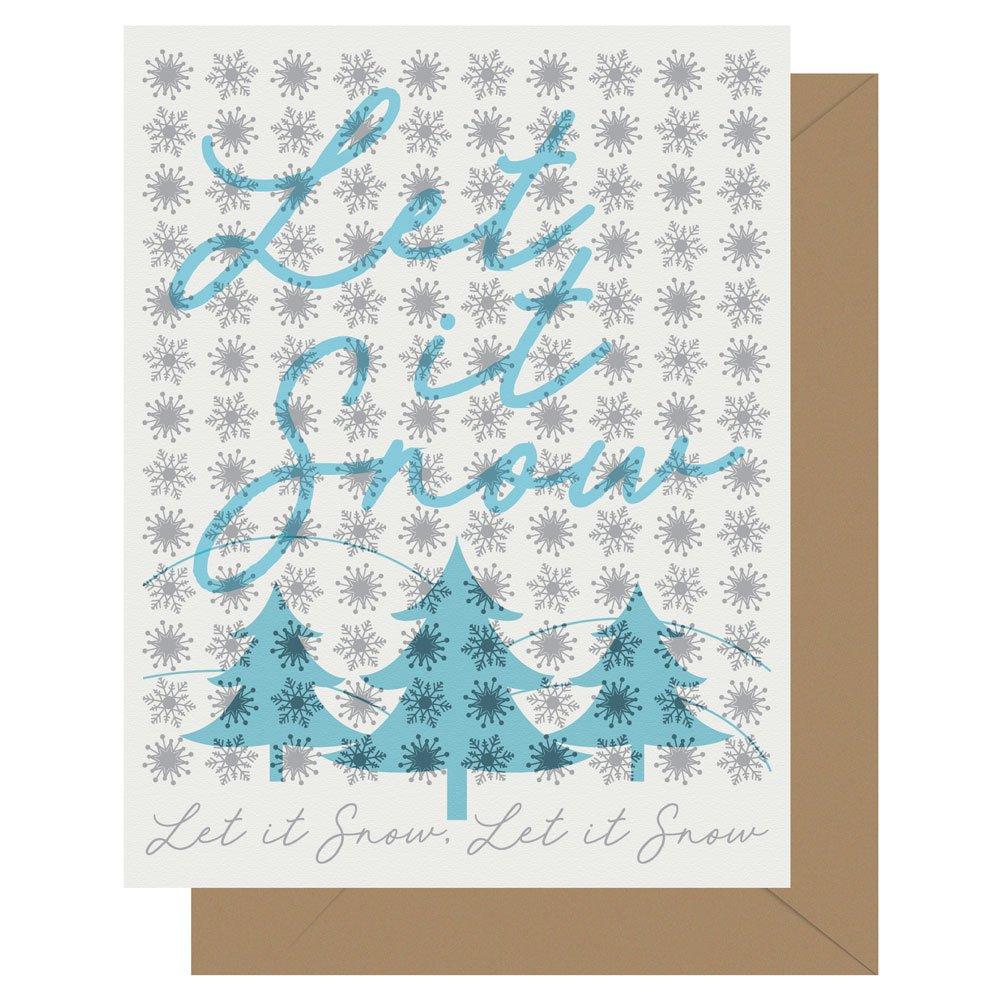 Let it snow letterpress holiday card from Letterpress Jess