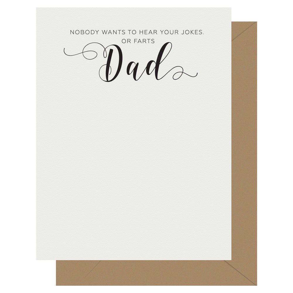 Dad Crass Calligraphy greeting card by Letterpress Jess