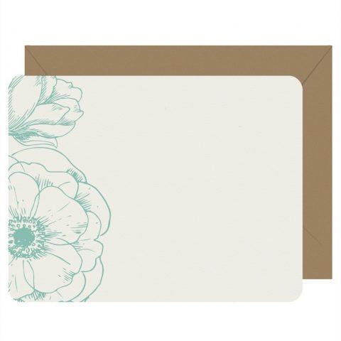 Letterpress Jess Peony Notecards