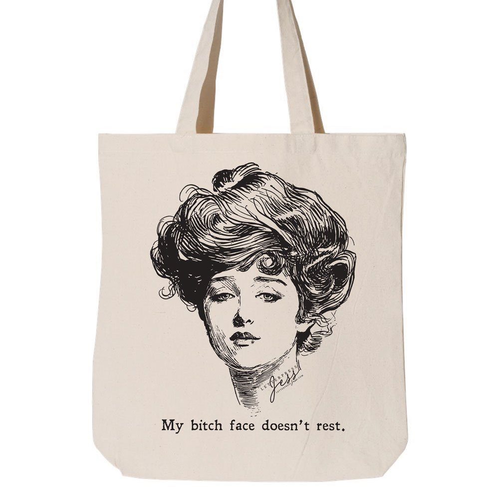 Letterpress Jess Gibson Girl Tote Bag