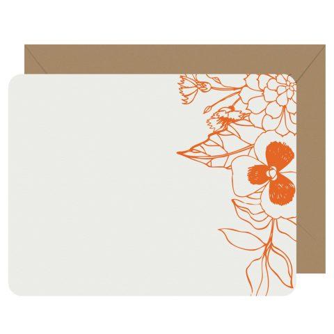Wildflower letterpress notecards from Letterpress Jess