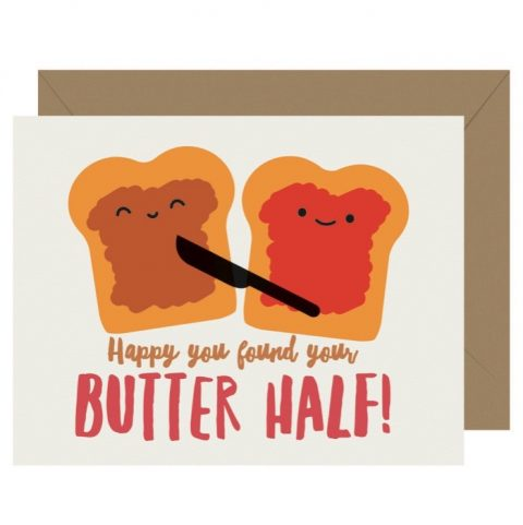 Cutie Kawaii Butter Half Letterpress Greeting Card (Copy)