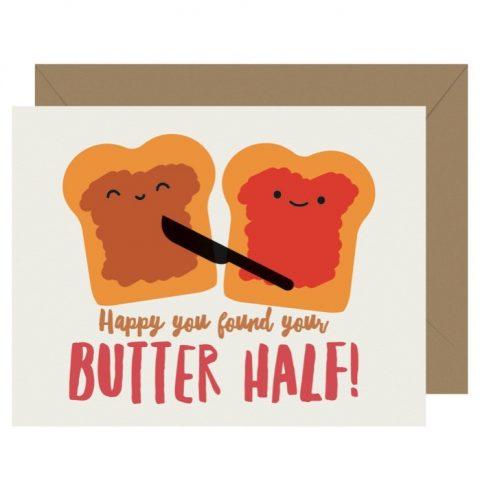 Cutie Kawaii Butter Half Letterpress Greeting Card (Copy)