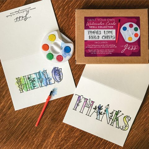 Paint Your Own Watercolor Cards - Boxed Set of 4