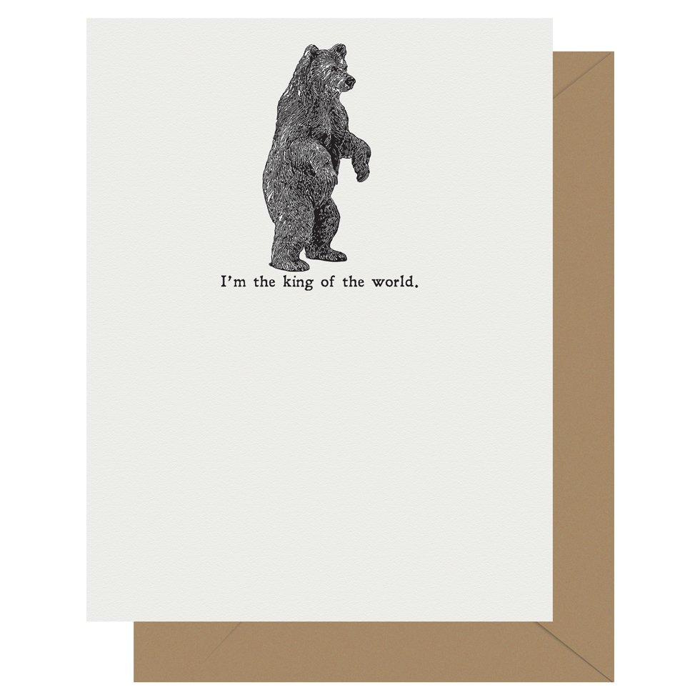 King of the World - Titantic | Letterpress Greeting Card