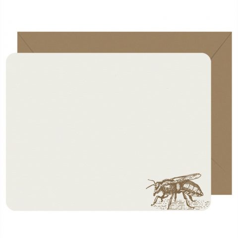 Honey Bee Set of 8 Flat Note Cards