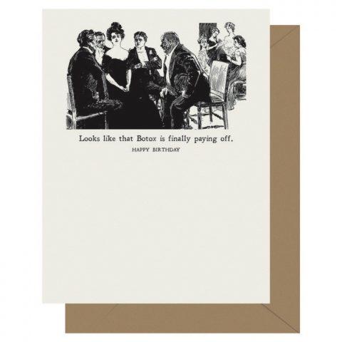 Gibson Girl Botox Letterpress Greeting Card