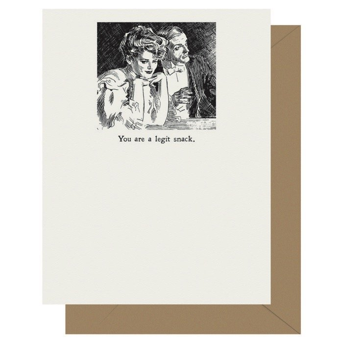 Legit Snack - Gibson Girl | Letterpress Greeting Card