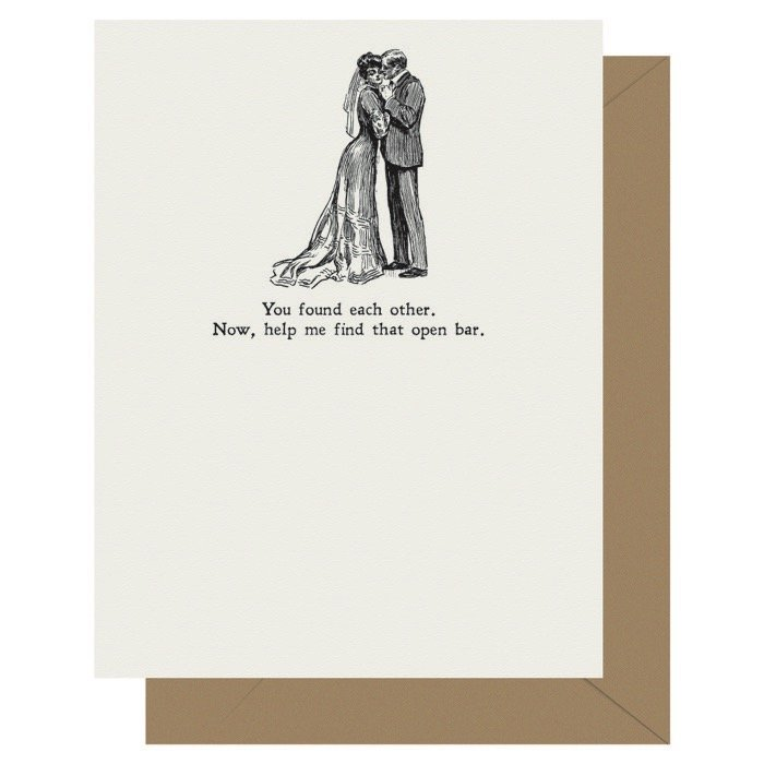 Open Bar - Gibson Girl | Letterpress Greeting Card