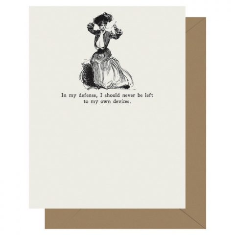 Own Devices - Gibson Girl | Letterpress Greeting Card