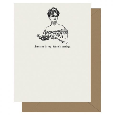 Sarcasm - Gibson Girl | Letterpress Greeting Card