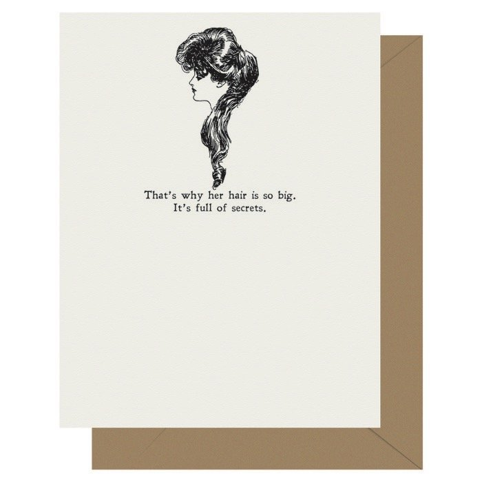 Secrets - Gibson Girl | Letterpress Greeting Card