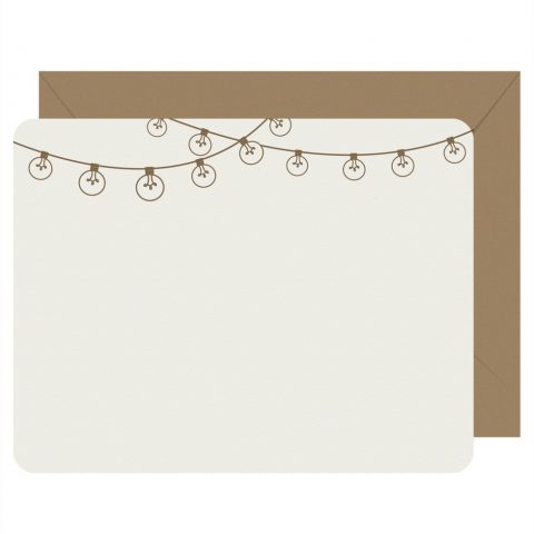 Party Invite Bistro Lights Set of 8 Flat Note Cards