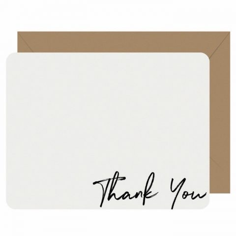 Note Cards Letterpress Thank You - Boxed Set of 8