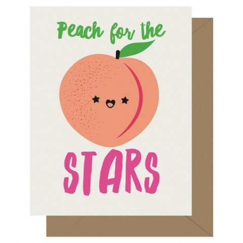 Peach for the Stars Cutie Kawaii Letterpress Jess