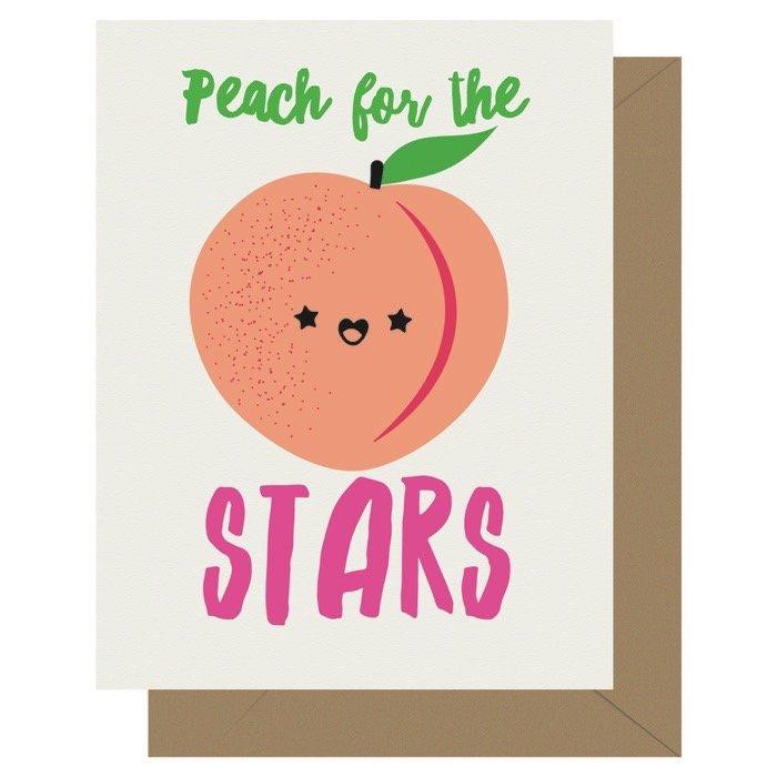 Peach for the Stars Cutie Kawaii Letterpress Jess