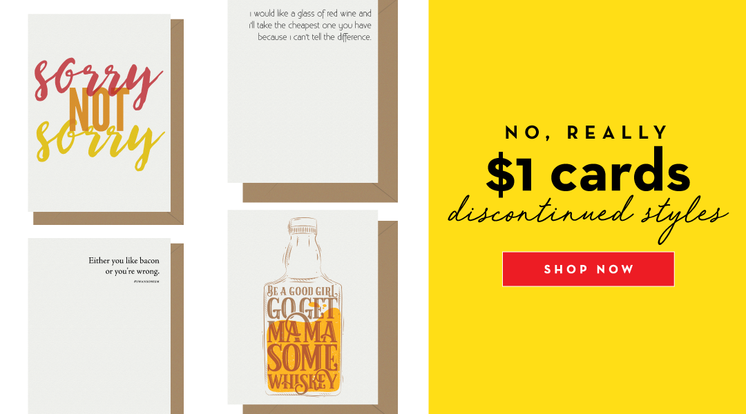 $1 Clearance Letterpress Cards