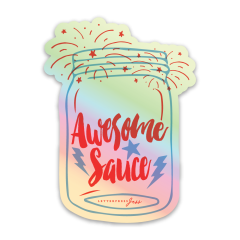 Awesome Sauce Holographic Sticker