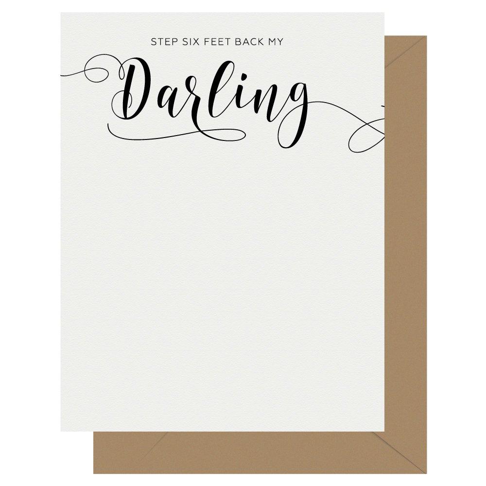 Darling Crass Calligraphy Letterpress Jess Card