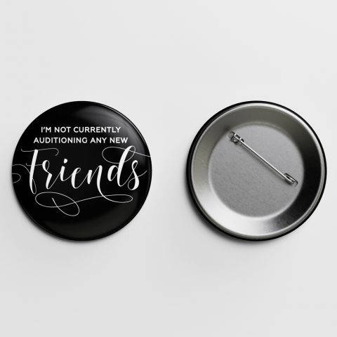 Friends Crass Calligraphy Pin Letterpress Jess