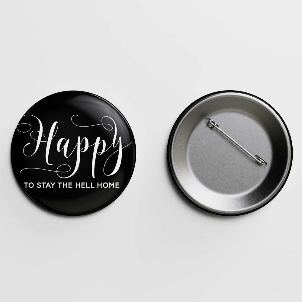Happy Crass Calligraphy Pin Letterpress Jess