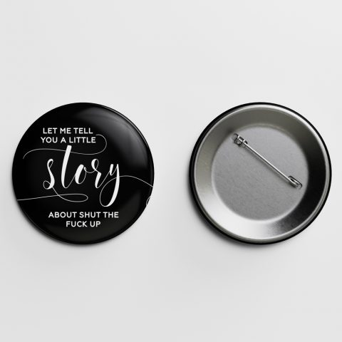 Story Crass Calligraphy Pin Letterpress Jess