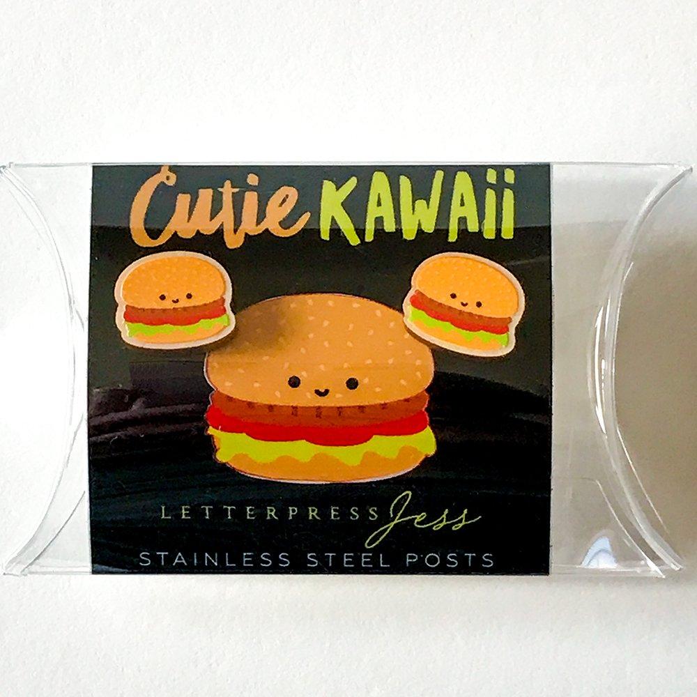 Cutie Kawaii Burger Earring Package