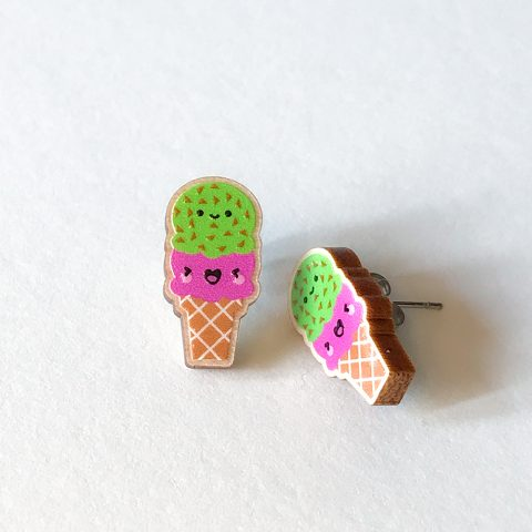 Cutie Kawaii Ice Cream Earrings