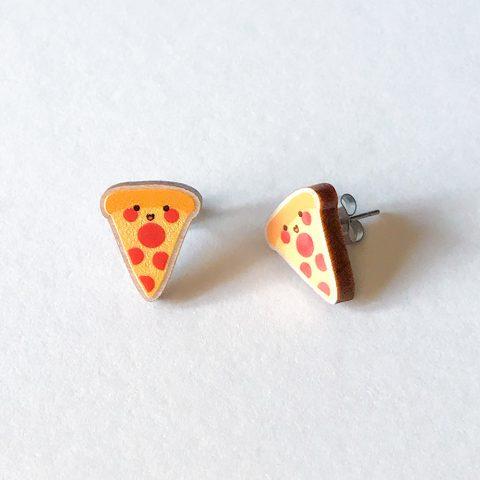 Cutie Kawaii Pizza Earrings