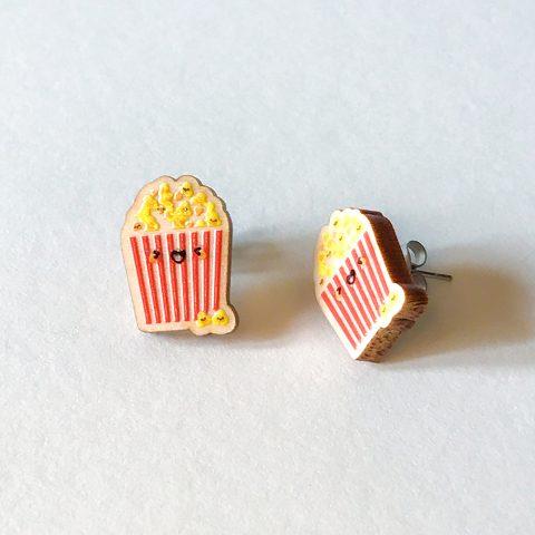 Cutie Kawaii Popcorn Earrings