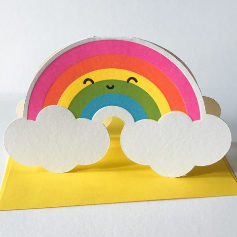 Cutie Kawaii Rainbow Greeting Card
