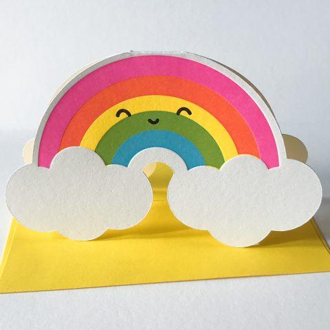 Cutie Kawaii Rainbow Greeting Card